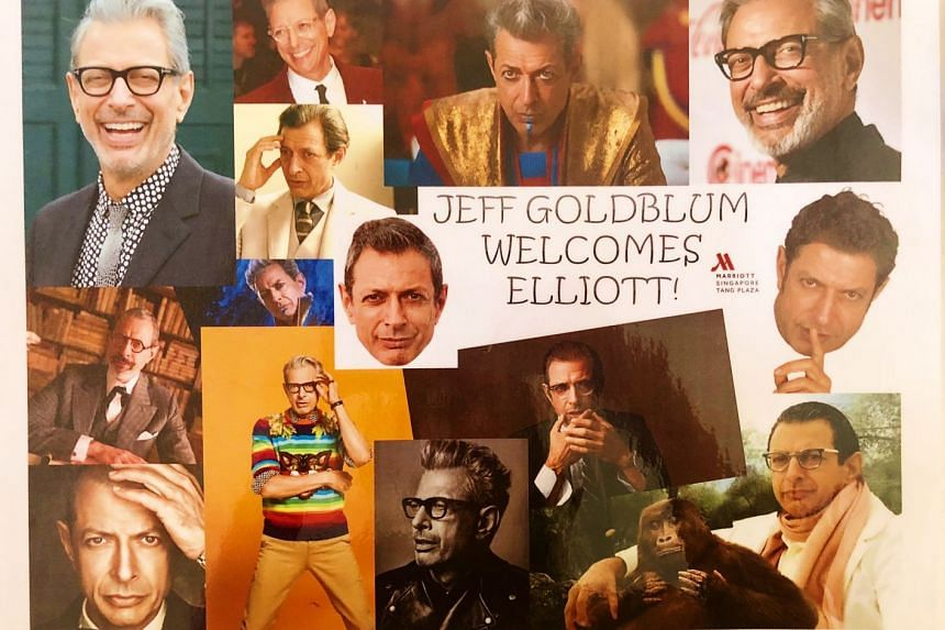 This collage, put together by the Singapore Marriott Tang Plaza hotel, now hangs in Mr Elliott Woolf's house in Perth.