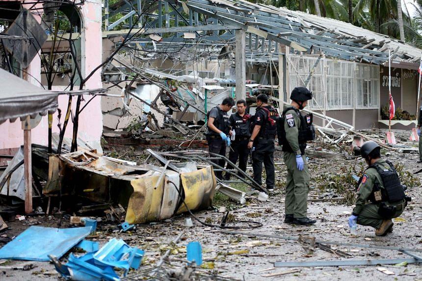 A bomb attack in the Pattani province.
