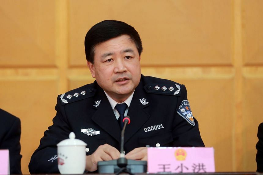 Wang Xiaohong, 60, a vice-minister of public security, in a 2014 file photo taken in Zhengzhou, Henan province, China.