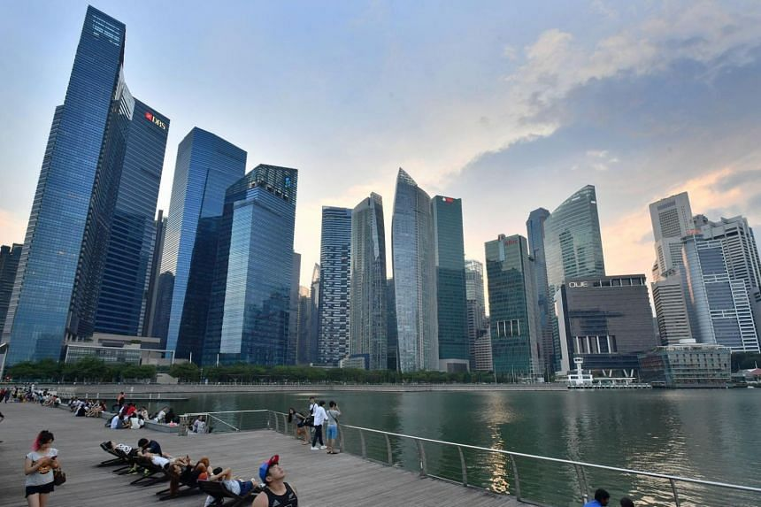 Singapore's Marina Bay Financial Centre and Central Business District seen in a photo taken in April 18, 2017.
