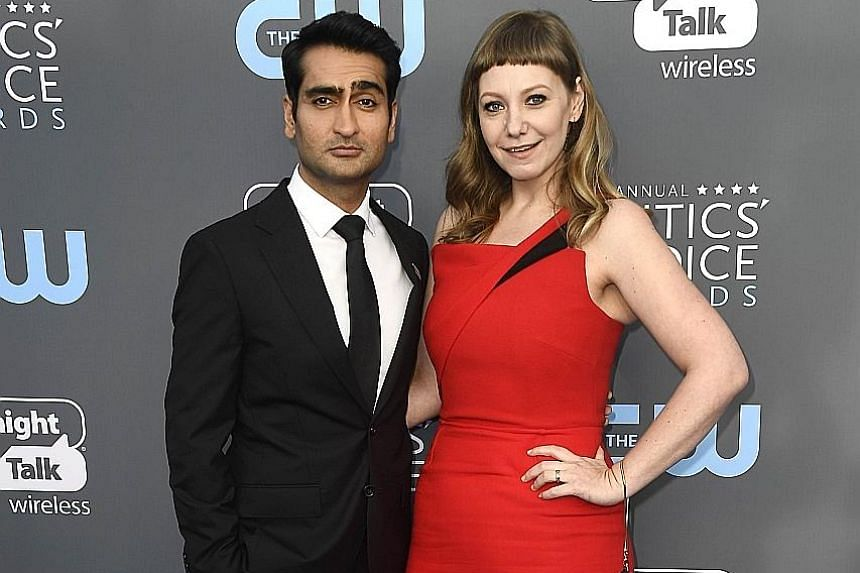 Comedian Kumail Nanjiani and his wife, writer Emily Gordon (both above), turned their courtship story into the sleeper hit, The Big Sick.