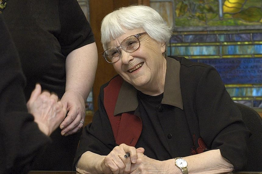 Harper Lee, author of To Kill A Mockingbird, on the campus of the University of Alabama in Tuscaloosa in 2006.