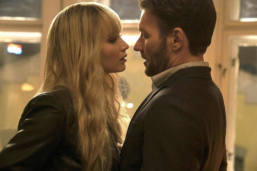 Jennifer Lawrence and Joel Edgerton in Red Sparrow.