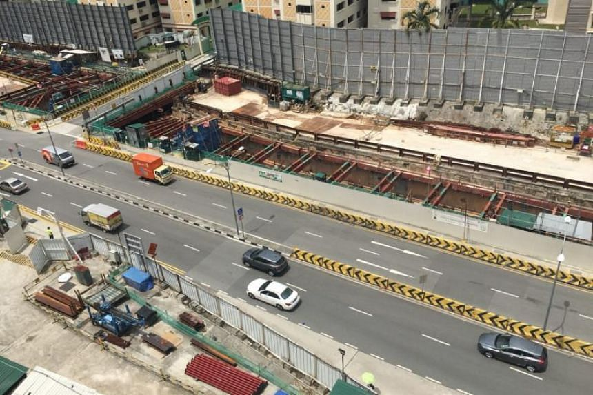 When The Straits Times visited the worksite on March 1, work appeared to have stopped and day-shift staff were told to report for a safety briefing.
