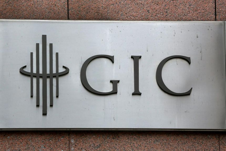 The logo for Singapore's sovereign wealth fund GIC seen on a building on July 6, 2017.