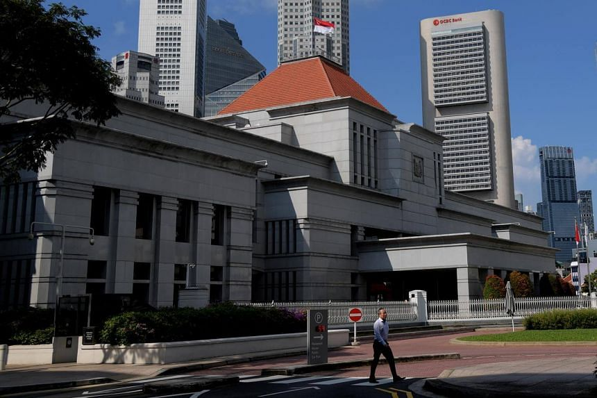 Singapore's Parliament House located in the Downtown Core of the country's Civic District.