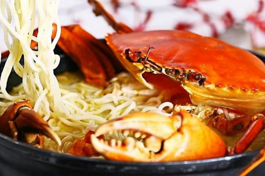 Crab bee hoon from Mellben Seafood.