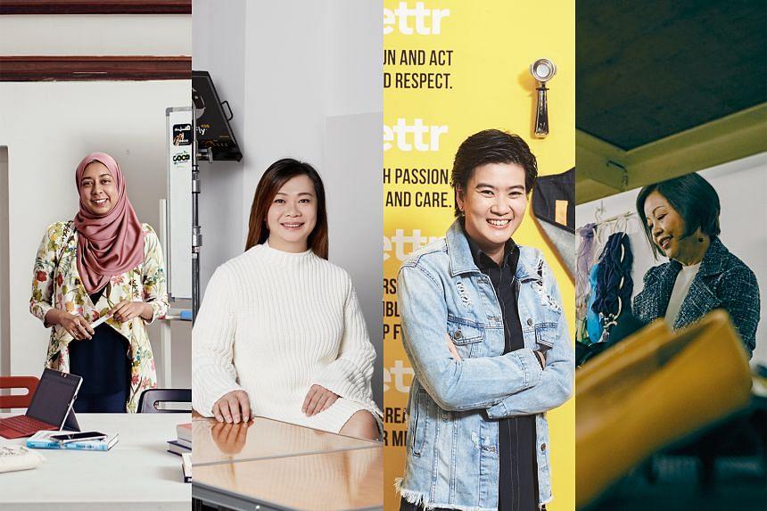 From left: Nurul Jihadah Hussain, Lily Goh, Pamela Chng and Pang Li Kin. PHOTOS: HER WORLD, NUYOU