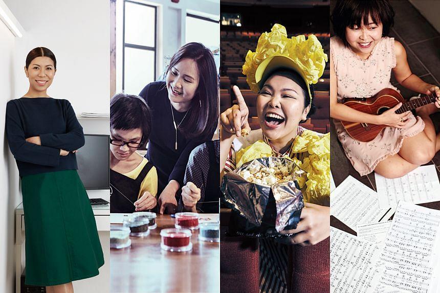 From left: Jennifer Heng, Stephanie Choo, Siti Khalijah Zainal and Crystal Goh. PHOTOS: HER WORLD, NUYOU