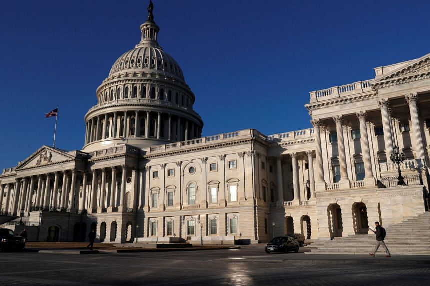 The US Capitol building in Washington, DC, seen in a photo taken on Feb 8, 2018.