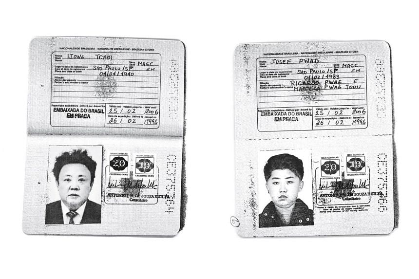 Photocopies of Brazilian passports used by the late Mr Kim Jong Il (left) and his son, Mr Kim Jong Un, to try and obtain visas from foreign embassies. They used the names Ijong Tchoi and Josef Pwag, respectively.