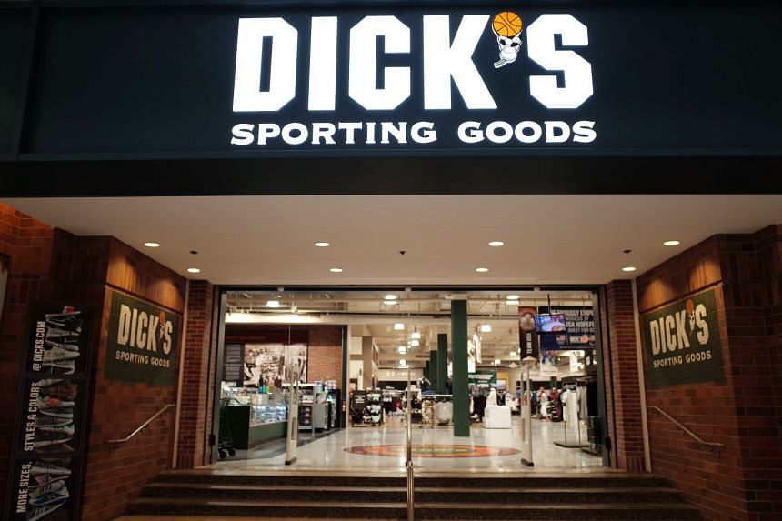 The entrance to the Dick's Sporting Goods store in Glendale, California.
