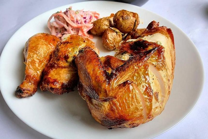 French bistro fare at Summer Hill in Clementi includes dishes such as juicy roast chicken.