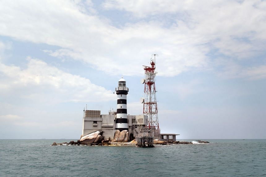 Pedra Branca and Middle Rocks in a file picture taken on April 4, 2017.