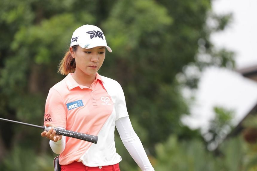 Former world number one Lydia Ko laboured to joint 27th place with a one-under 71 after the first round of the HSBC Women's World Championship in Singapore on Mar 1, 2018.