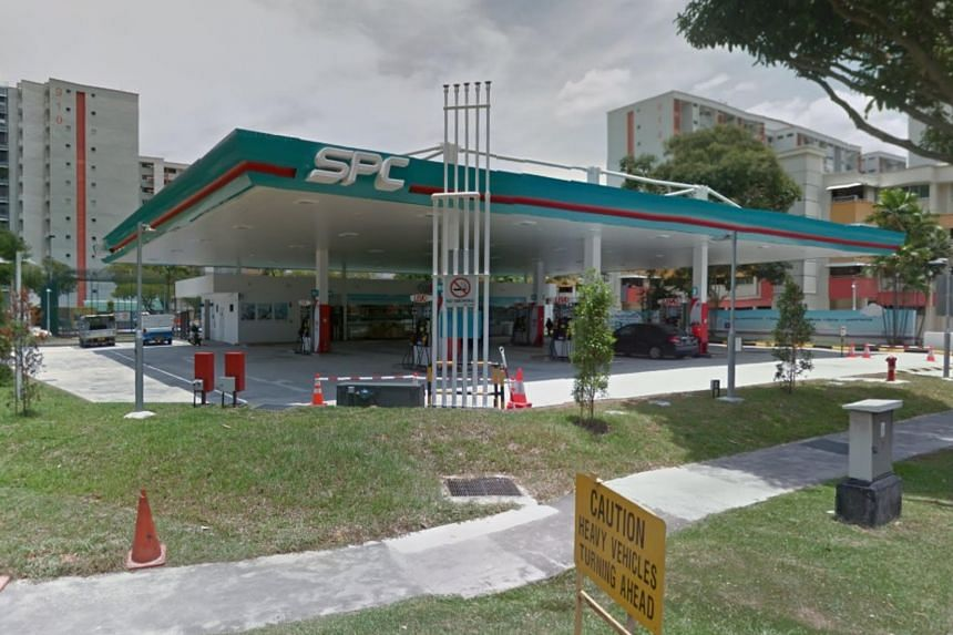 Police were alerted to a man threatening staff at an SPC petrol kiosk in Tampines Avenue 4 on Feb 28, 2018.
