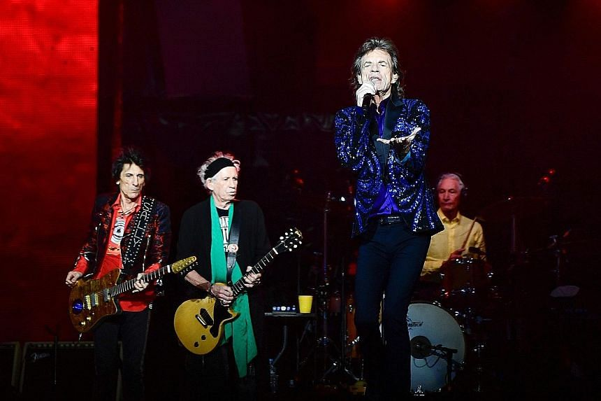 Documentary Shirkers will be shown on Netflix in Singapore at the end of this year. Keith Richards (above, second from left) had suggested that Mick Jagger (above, second from right) needed a vasectomy. Artist Zai Kuning built a 17m-long skeletal shi