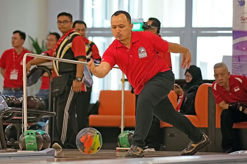 Ismail Hussain won two gold medals at the first leg of the inaugural World Para Bowling Tour Series in Singapore.