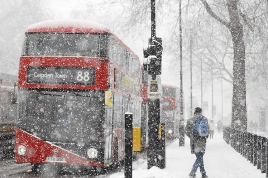 With up to 90 cm of snow and temperatures as low as minus 10.3 Celsius in Scotland, Britain and Ireland issued their most severe red warnings which advise people to stay at home as travel is too dangerous.