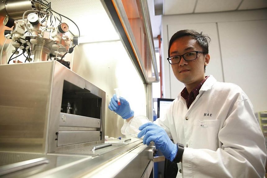 Research fellow Ng Wei Long of Singapore Centre for 3D Printing at NTU's school of mechanical and aerospace engineering.