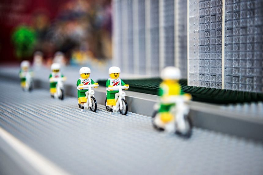 Lego toys are displayed at the Lego World exhibition at Bella Center in Copenhagen on Feb 15, 2017.