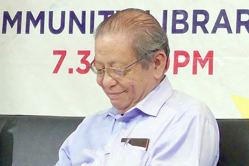 Lim Kit Siang injured his forehead after slipping in the toilet on March 1, 2018.