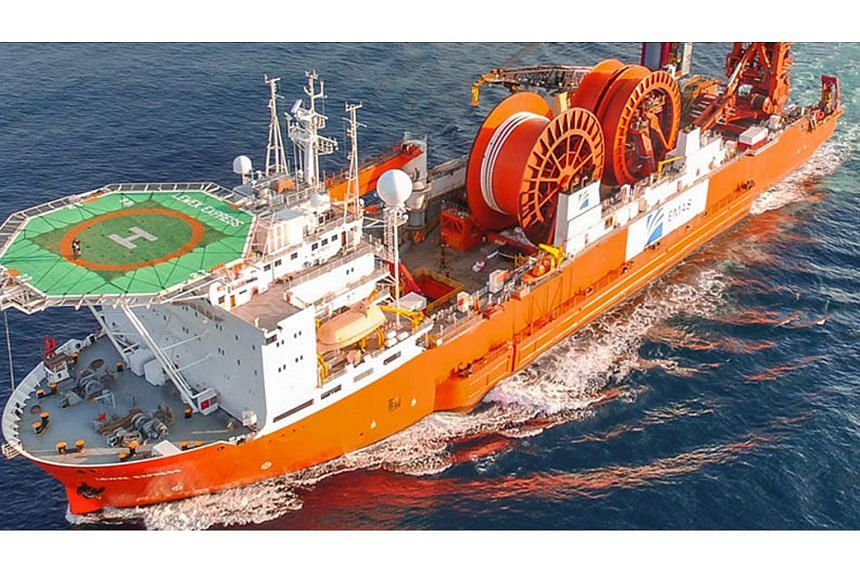 One of Emas Chiyoda Subsea's vessels, the Lewek Express. Ezra's assets mainly comprises shares in associates and subsidiaries, including Emas Offshore and Emas Chiyoda Subsea.