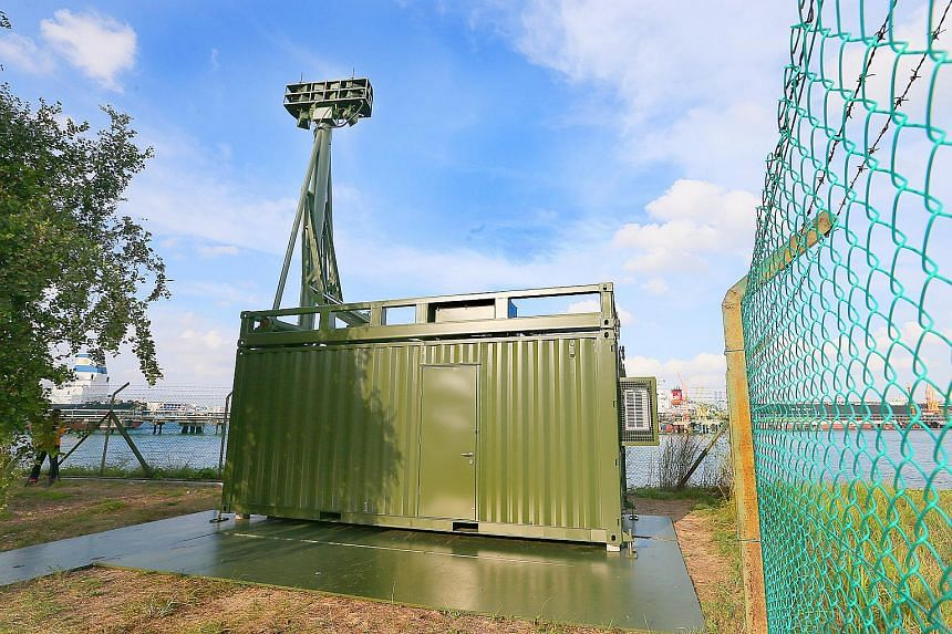 SAF's Unmanned Watch Tower on Jurong Island.