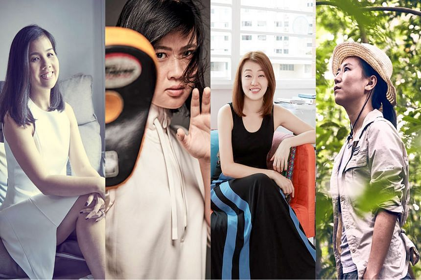 From left: Cheryl Ou, Qin Yunquan, Elain Lim and Andie Ang. PHOTOS: HER WORLD, NUYOU