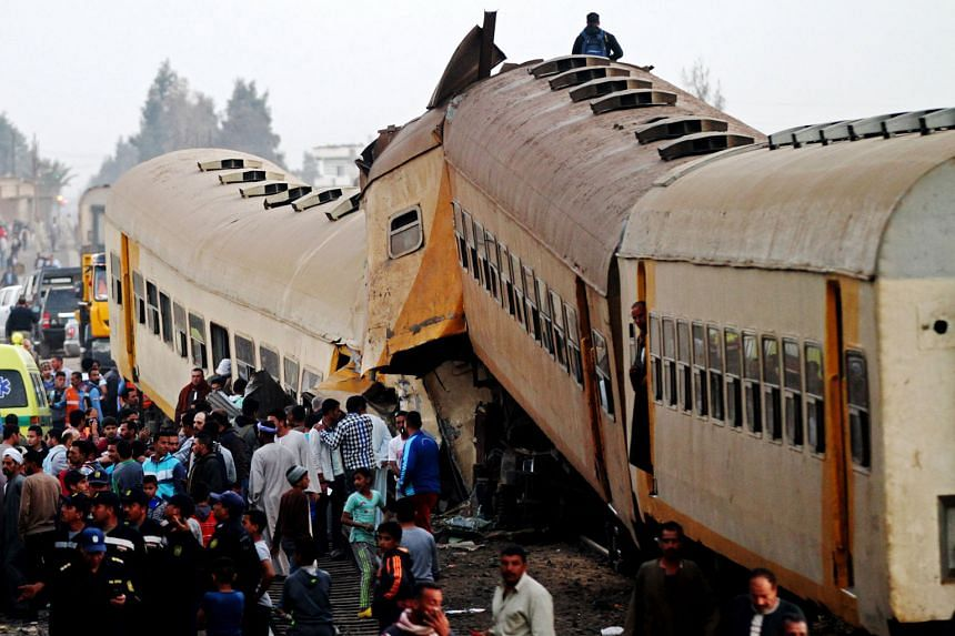 At least 15 people were killed and 40 others injured in a train crash in Egypt's northern province of Beheira, the official news agency Mena said, citing a Transport Ministry spokesman. Two passenger carriages separated from one train and collided wi