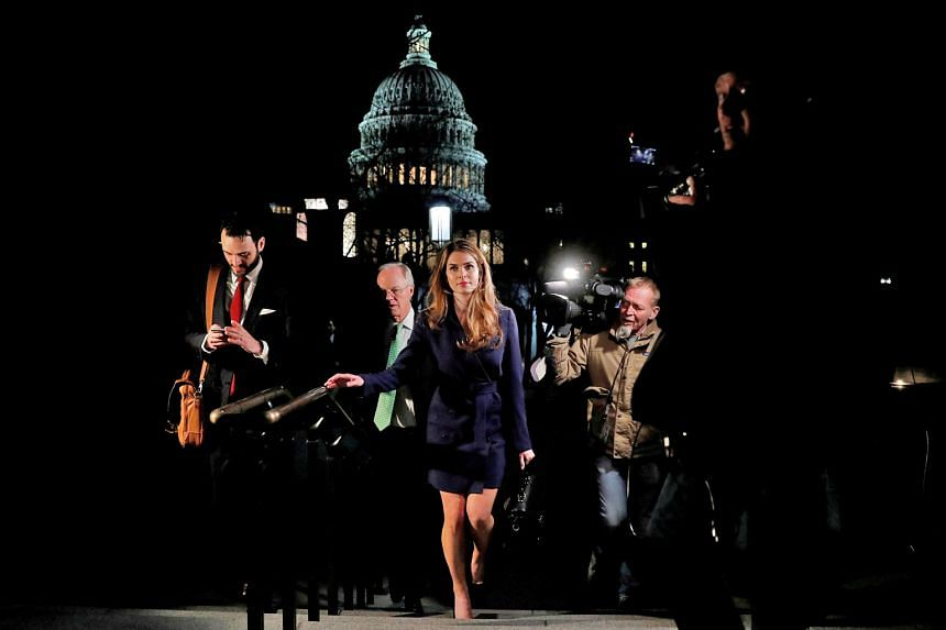 White House communications director Hope Hicks leaving the Capitol on Wednesday after appearing before a House of Representatives Intelligence Committee on its investigation into Russian meddling in the 2016 US presidential election. Lawmakers said s