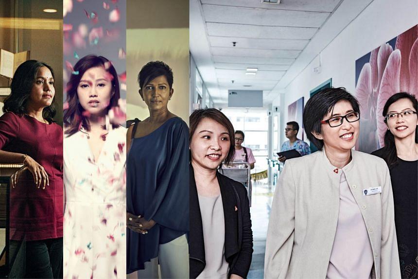 From left: Makeswary Periasamy, Hazel Kwek, Leela Jesudason and Drs Angel Lee, Patricia Neo and Ong Wah Ying. PHOTOS: HER WORLD