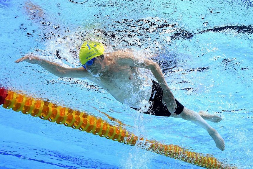 Australian George Corones was the only competitor in the 100 to 104 years men's masters category and set a time of 56.12 seconds for a single length of the Gold Coast Aquatic Centre pool.