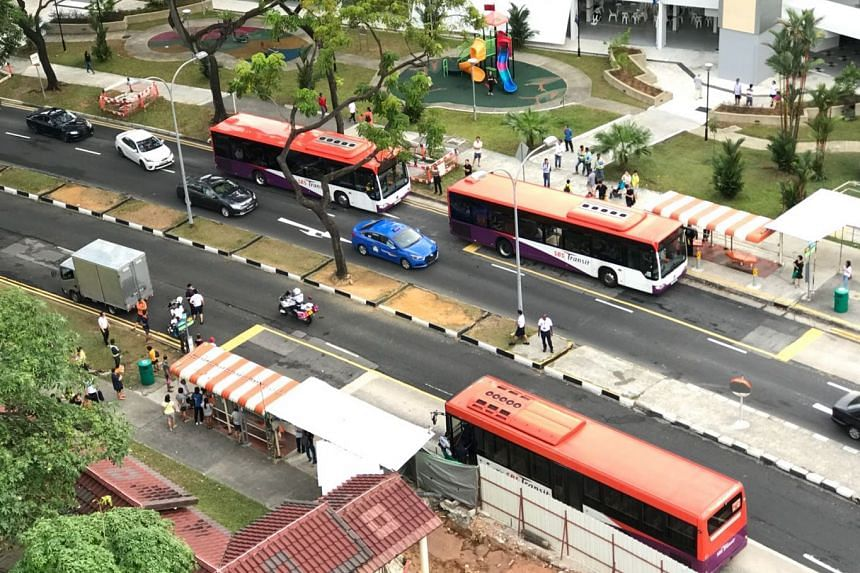 The acccident involving a lorry and a 10-year-old boy occurred along Ang Mo Kio Avenue 4, towards Ang Mo Kio Avenue 3.