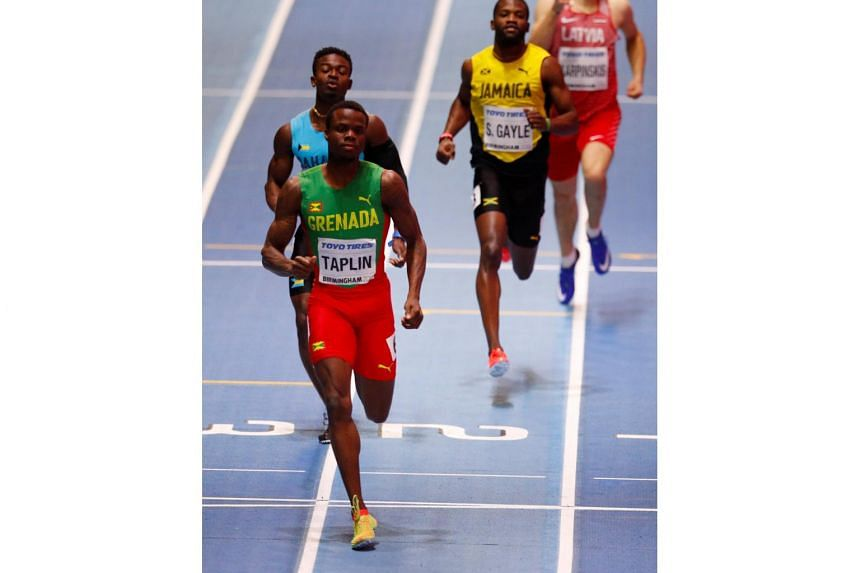Bralon Taplin was ruled to have run out of his lane, along with the other three finishers, Jamaica's Steven Gayle, Latvia's Austris Karpinskis and Alonzo Russell from the Bahamas.