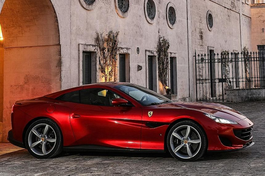 The Ferrari Portofino boasts electric power steering, which provides assistance for various driving situations and resulting in a sharper, more responsive car.