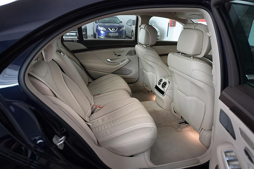 The Mercedes-Benz S-class S320L is powered by a 3-litre turbocharged V6 with 400Nm of torque.