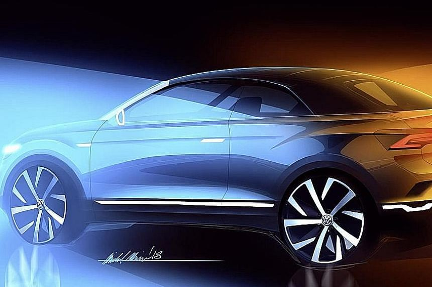 Following in the footsteps of Range Rover, Volkswagen will make a convertible version of its T-Roc crossover.