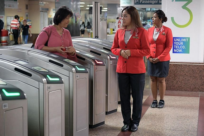 The brighter shade of red makes staff more visible. The changes - which come after a year of discussions with staff and the National Transport Workers Union - were also designed for comfort and functionality. The last uniform revamp was in 2010.