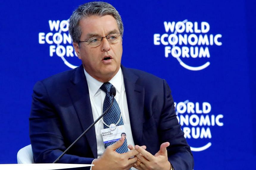 Roberto Azevedo, Director-General of the World Trade Organization (WTO), attends the World Economic Forum annual meeting in Davos, Switzerland on Jan 24, 2018.