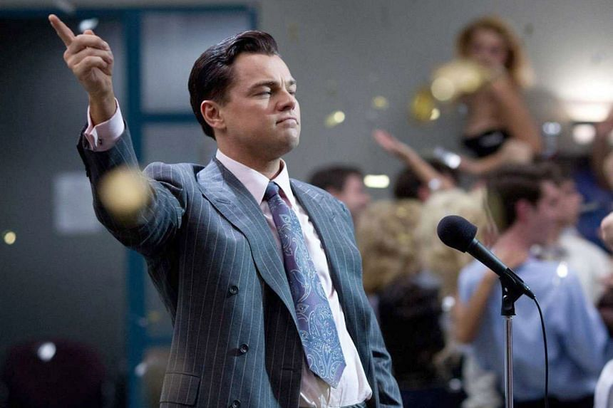 A scene from Hollywood blockbuster The Wolf Of Wall Street, directed by Martin Scorsese and starring Leonardo DiCaprio.