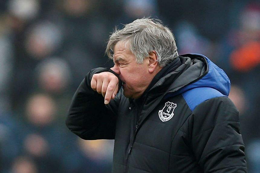 Allardyce looks dejected after the match.
