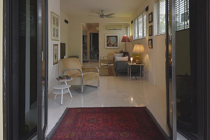 """The apartment used to have three bedrooms but one was converted to have a larger dining space. Ms Yonkers and her husband chose this apartment as it was in a beautiful """"move-in"""" condition when they found it."""