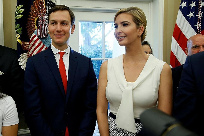 President Trump had reportedly mused that it would be better for Mr Jared Kushner and Ms Ivanka Trump if they returned to New York. Mr Kushner is under scrutiny for mixing business and government work, as well as for his contacts with certain foreign