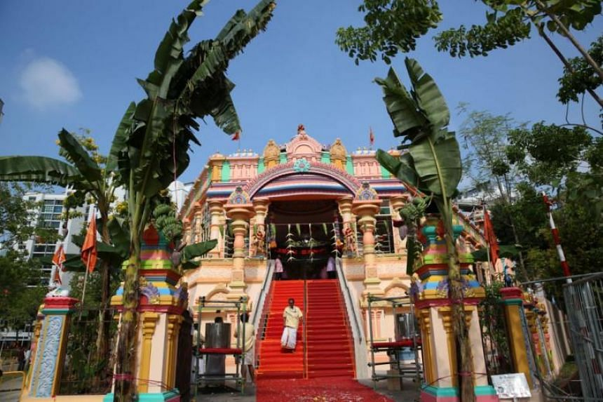 After a year-long makeover, the Arulmigu Velmurugan Gnana Muneeswarar Temple in Sengkang conducted its consecration ceremony on March 4, 2018.