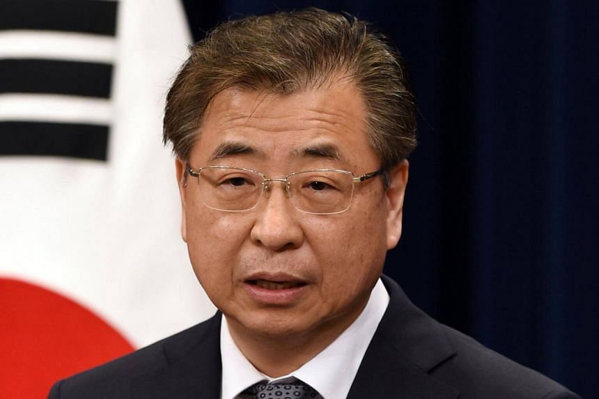 The 10-member special delegation includes Suh Hoon (above), the head of the National Intelligence Service. The team will be flying into Pyongyang on March 5, 2018.