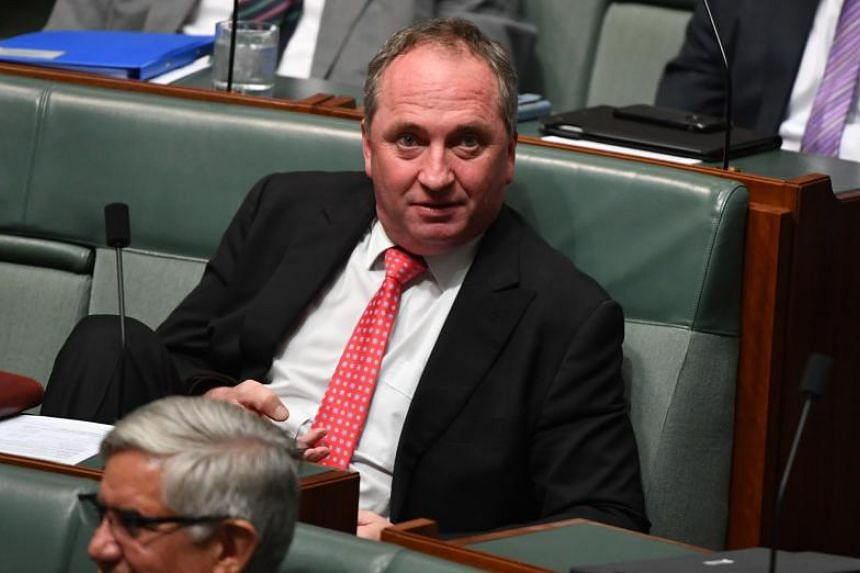 Barnaby Joyce (pictured) believes he and the former aide, 33-year-old Vikki Campion, were apart for almost all of the conception period, but said he would not get a paternity test.