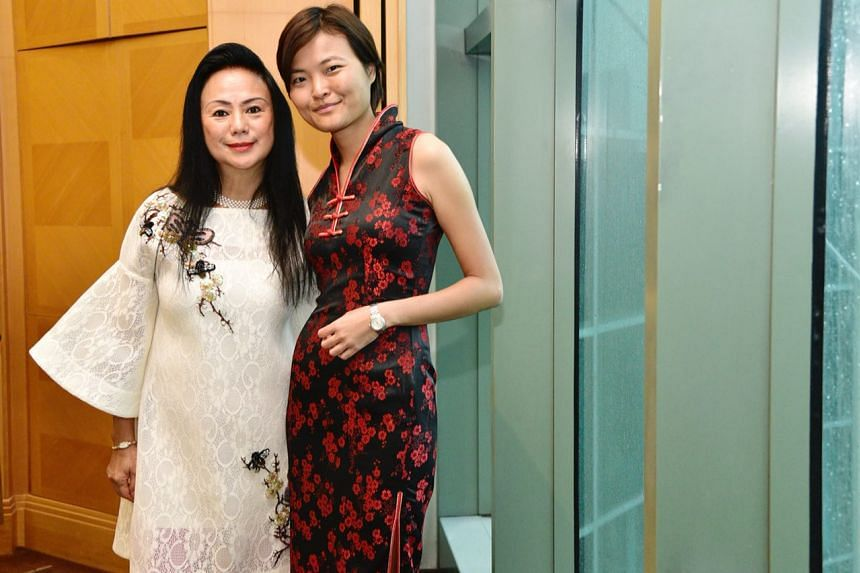 (From left) Claire Chiang, co-founder of Banyan Tree Hotels and Resorts and Tan Hooi Ling, co-founder of Grab.