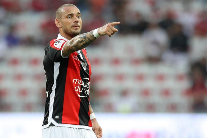 Midfielder Wesley Sneijder said he knew his international career would be in jeopardy when he left Nice in January to play at Al Gharafa in Qatar.