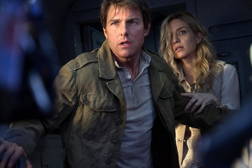 Tom Cruise (right, with Annabelle Wallis) was voted Worst Actor for his role in The Mummy at the Razzies.